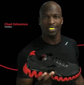 chad ochocinco gold teeth cincinatti bengals new england patriots nfl reebok commercial